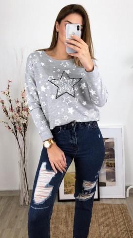 Yıldız Payetli Sweatshirt