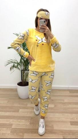 Kelebek Polar Pijama Takımı