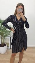Payetli Anvelop Elbise