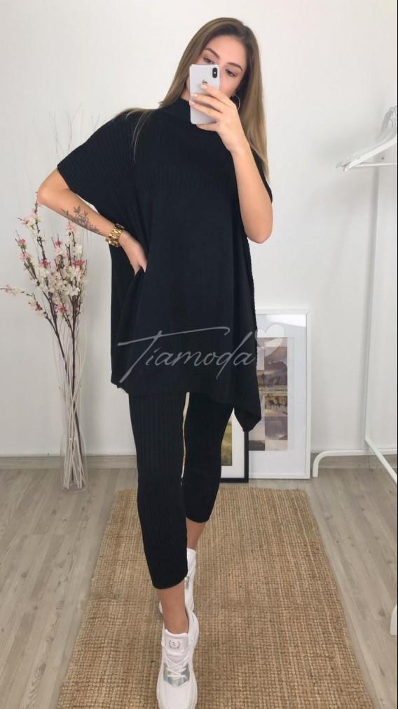 Tayt-Panço Triko Takım - Siyah