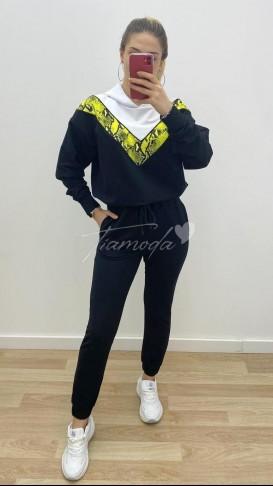 Yılan Desen Eşofman Takımı - Neon
