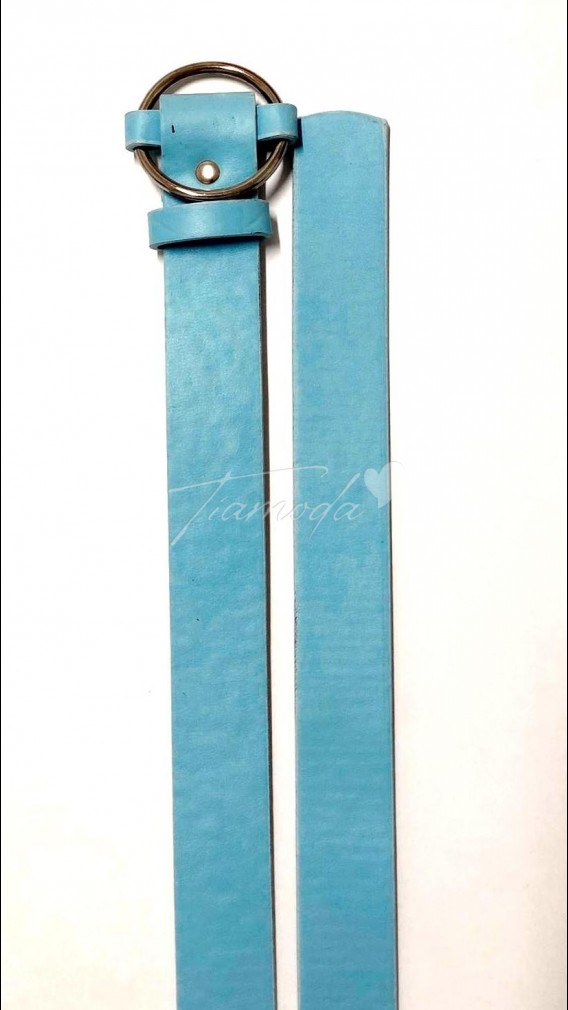 Halka Tokalı Kemer - Mavi