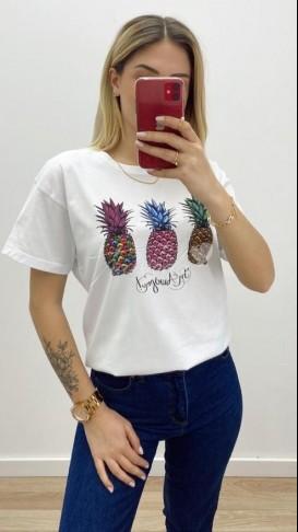Ananas Tshirt - Beyaz