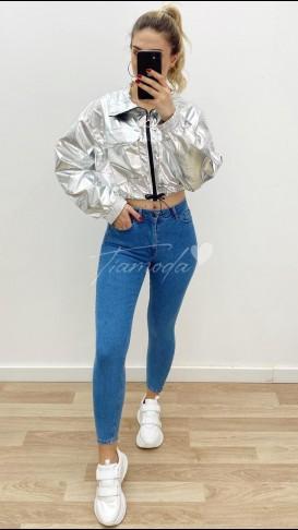 Yüksek Bel Skinny Jean - Mavi