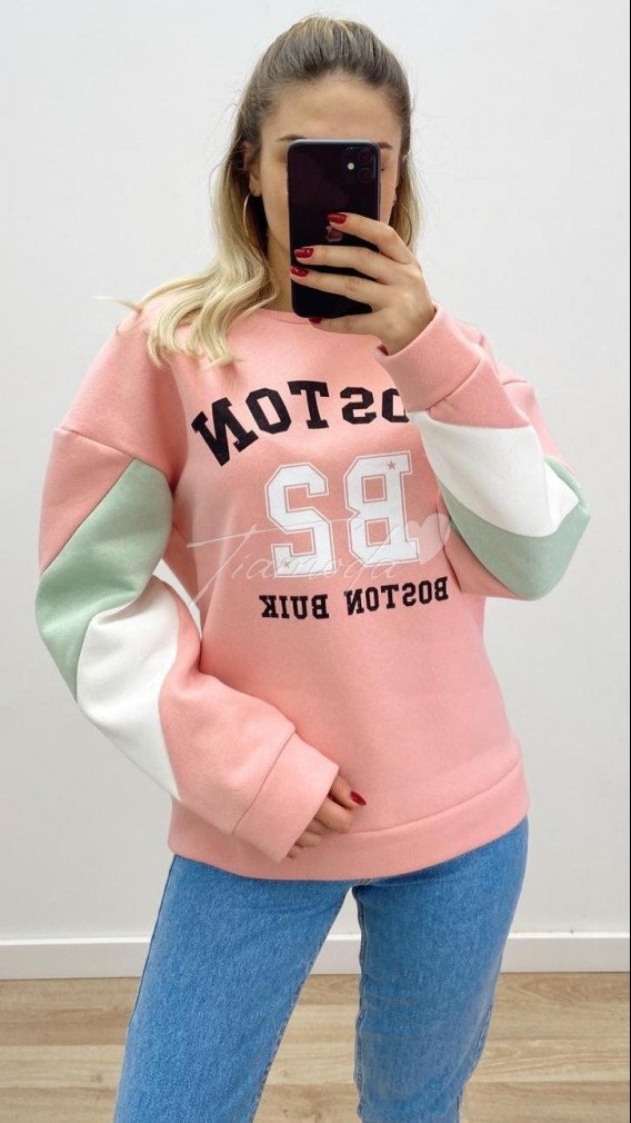 Boston Sweat - Pembe