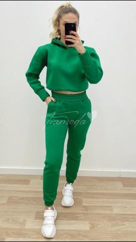 Crop Eşofman Takımı - Yeşil