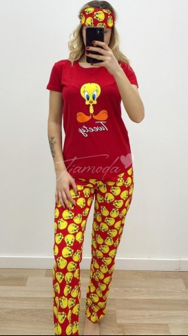 Tweety Pijama Takımı - Kırmızı