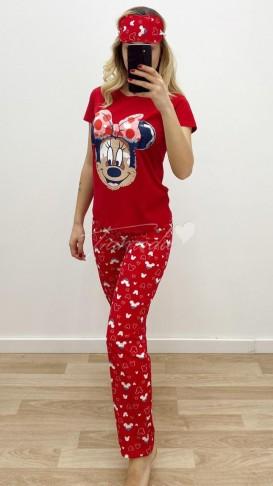 Minnie Mouse Pijama Takımı - Kırmızı