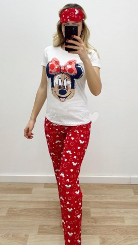 Minnie Mouse Pijama Takımı - Beyaz