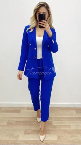 Denizci Ceket Pantolon Takım - Saks Mavisi