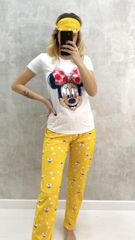 Minnie Mouse Pijama Takımı - Sarı