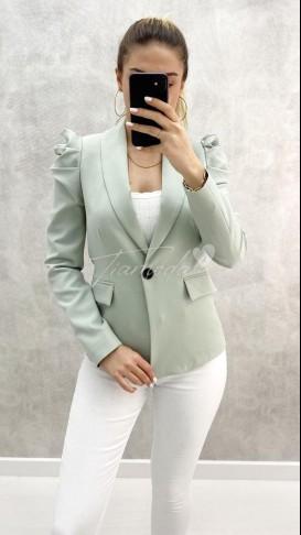 Omuz Detay Blazer - Mint