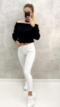 Yüksek Bel Skinny Jean - Beyaz