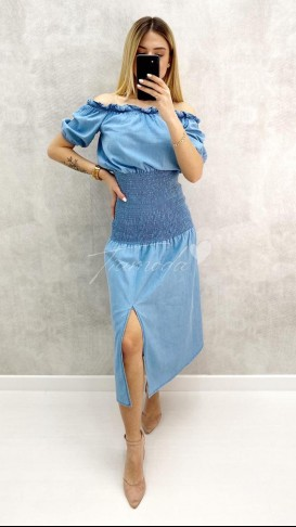 Gipeli Denim Elbise