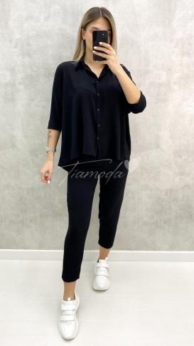 İkili Gömlek Takım - Siyah