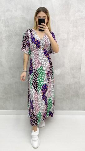 Yama Desen Viskon Elbise