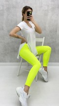 Korseli Parlak Tayt - Neon Sarı