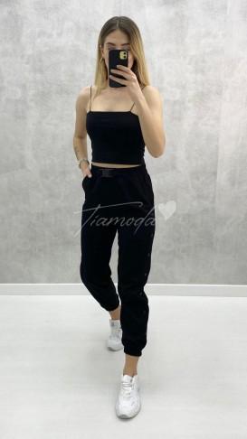 Çıtçıtlı Kargo Pantolon - Siyah