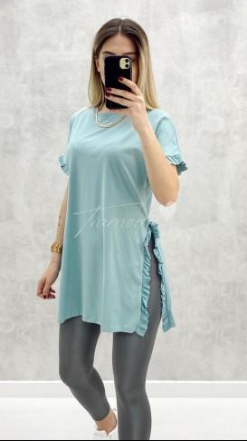 Fırfırlı Tshirt - Mint