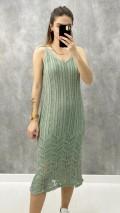 Ajurlu Elbise - Mint