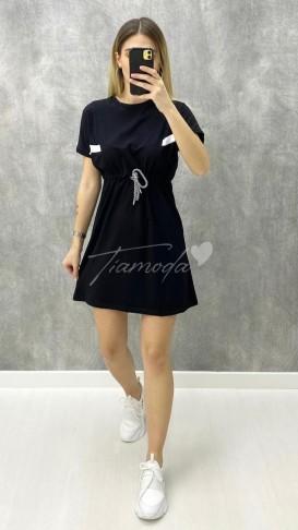 Bağcıklı Penye Elbise