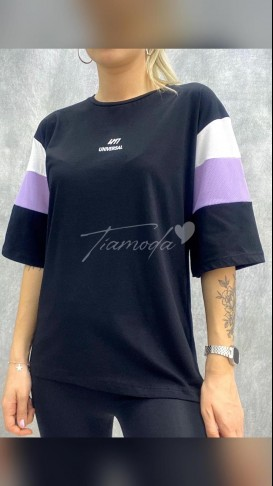 Kol File Tshirt - Siyah