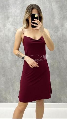 Degaje Yaka İp Askılı Elbise
