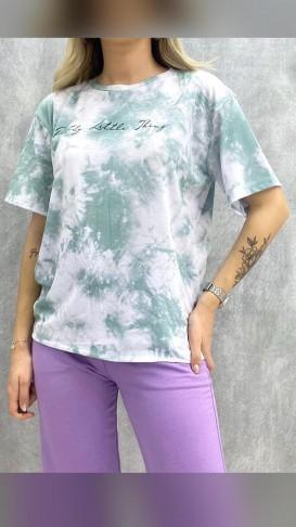 Batik Desen Tshirt - Yeşil