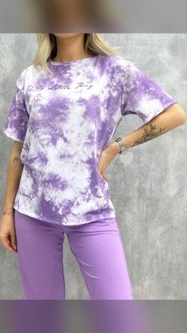 Batik Desen Tshirt - Lila