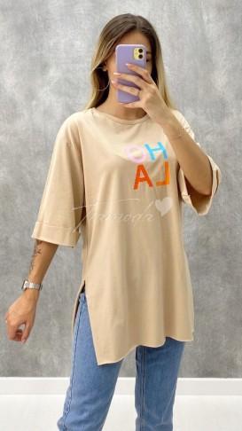 Hola Tshirt - Bej