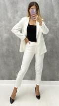 Ceket Pantolon Takım - Beyaz