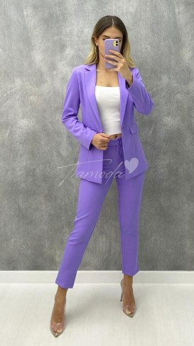 Ceket Pantolon Takım - Lila