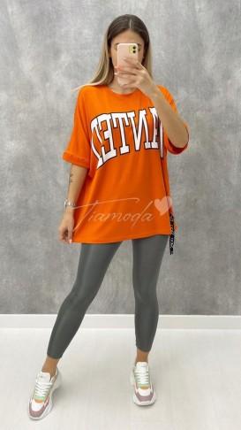 Wanted Tshirt - Turuncu