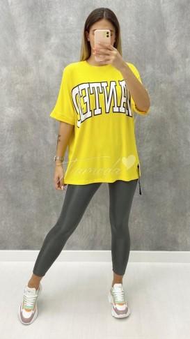 Wanted Tshirt - Sarı