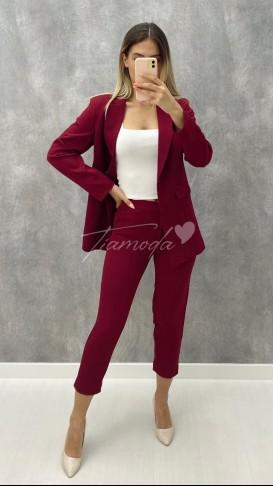 Ceket Pantolon Takım - Bordo
