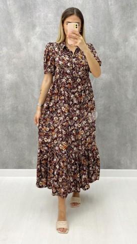 Gömlek Yaka Boydan Düğmeli Elbise