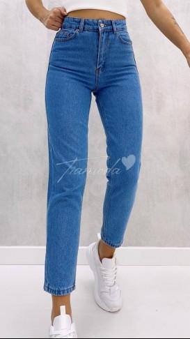 Basic Mom Jean - Açık Mavi