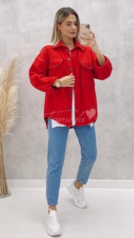 Kaşe Oduncu Gömlek - Kırmızı