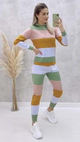 Renkli Çizgili Triko Takım