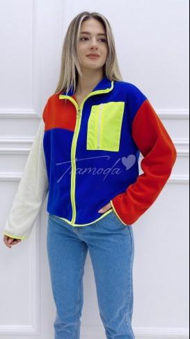 Cep Detay Neon Sweatshirt