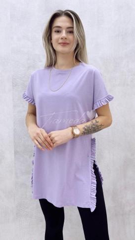 Fırfırlı Tshirt - Lila
