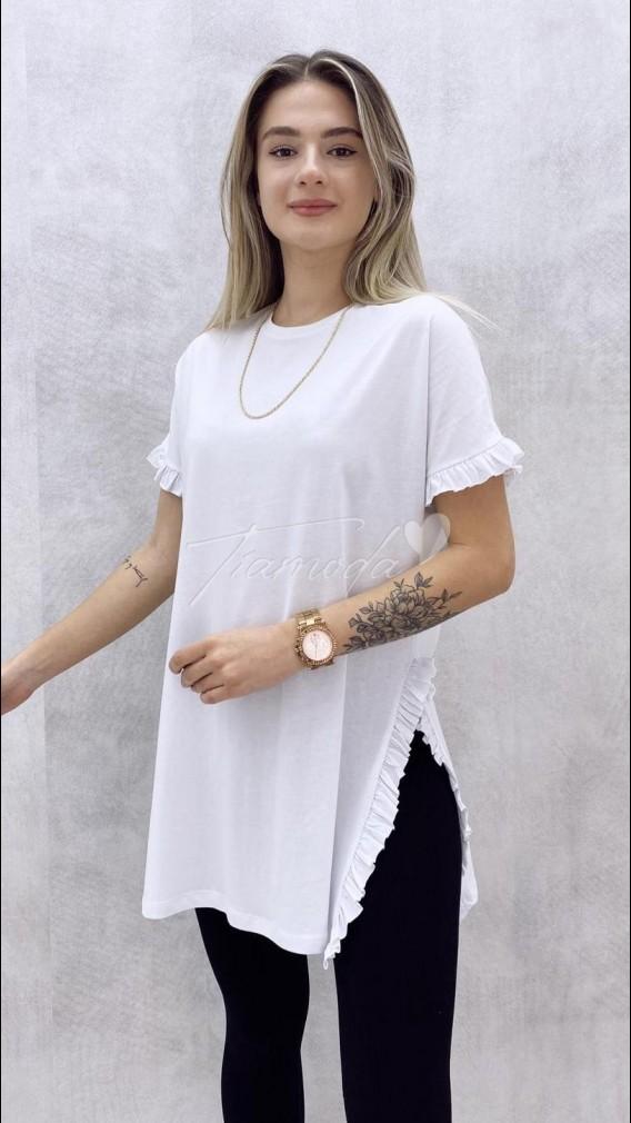 Fırfırlı Tshirt - Beyaz