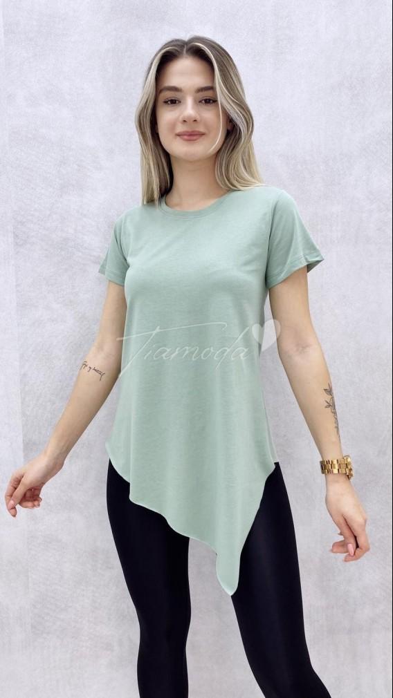 Asimetrik Tshirt - Mint