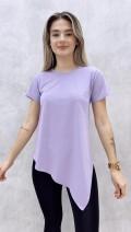 Asimetrik Tshirt - Lila