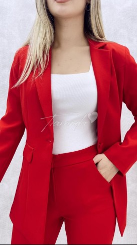 Ceket Pantolon Takım - Kırmızı