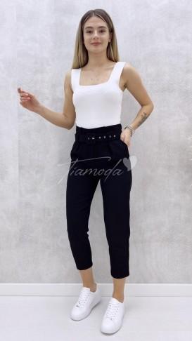 Kemerli Havuç Pantolon - Siyah
