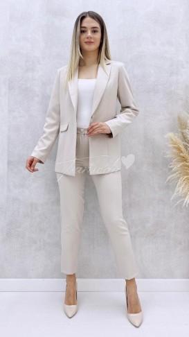 Ceket Pantolon Takım - Krem