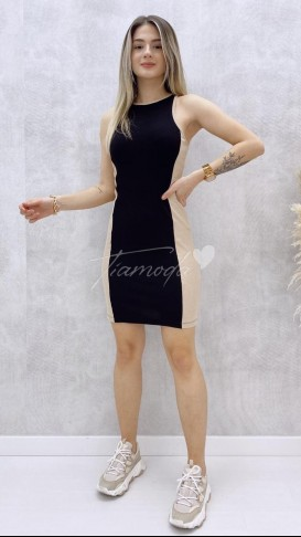 Halter Yaka Kaşkorse Elbise