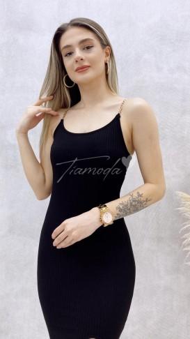 Zincir Askılı Penye Elbise