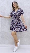 Şort Etekli Elbise - Lacivert